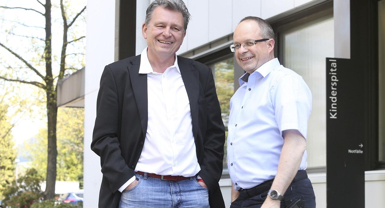 Spital-Seelsorger Philipp Aebi und Martin Schuppli