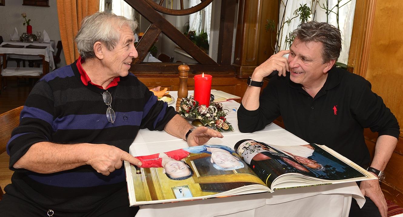 Leidmahl. Michele Casale und DeinAdieu-Autor Martin Schuppli
