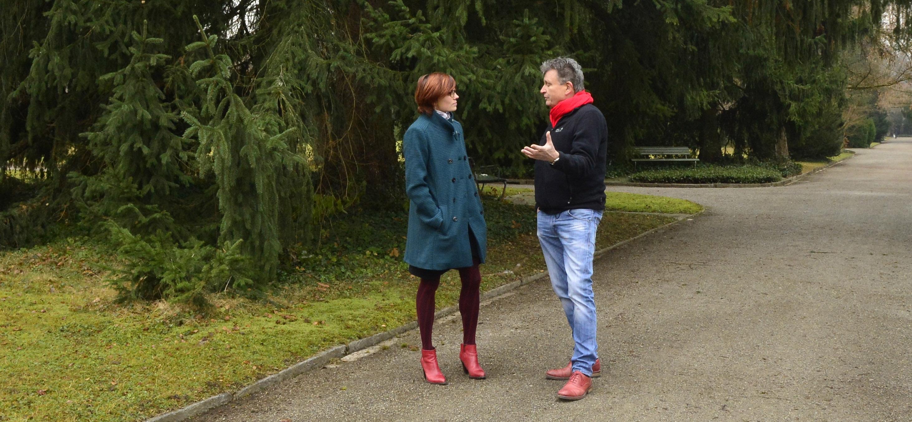Angela Maria Villiger, Fachfrau für Beratungen in der letzten Lebensphase im Gespräch mit DeinAdieu-Autor Martin Schuppli