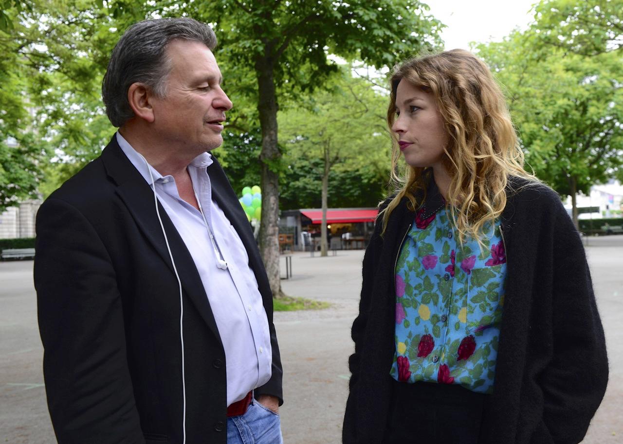 Anna Rossinelli und DeinAdieu-Autor Martin Schuppli