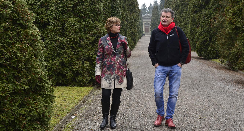 Pfarrerin Claudia Mehl und Martin Schuppli