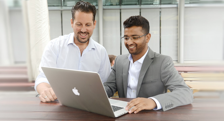 CEO-Nicolas Gehrig und Chef-Entwickler Hasan Parag