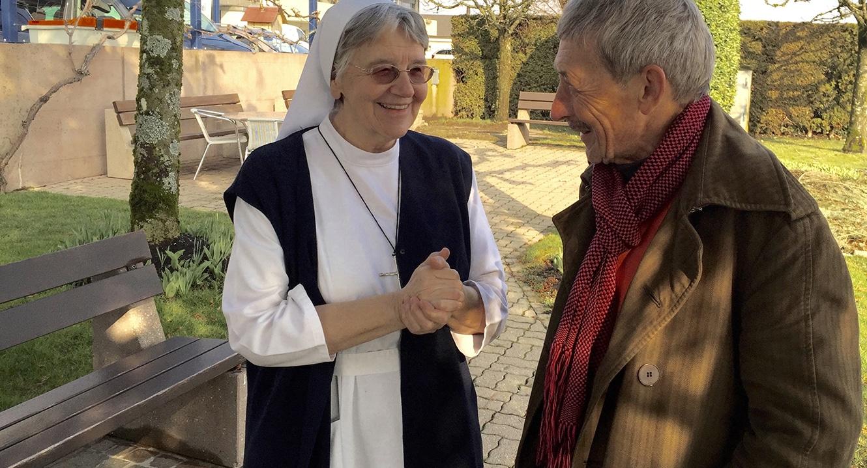 Schwester Jolenda Elsener und Dr. Alois Birbaumer