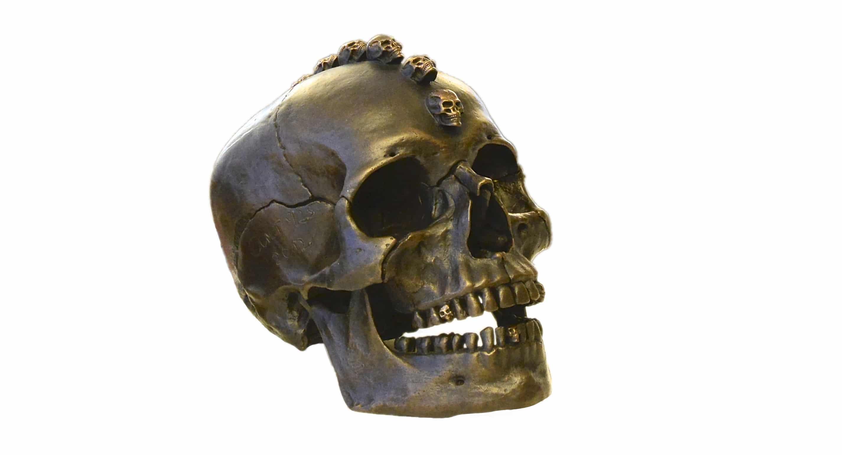 Totenkopf symbolisiert den Tod.