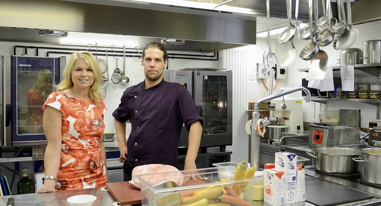 Kathrin Rauchenstein mit Koch Ivan Sculati.