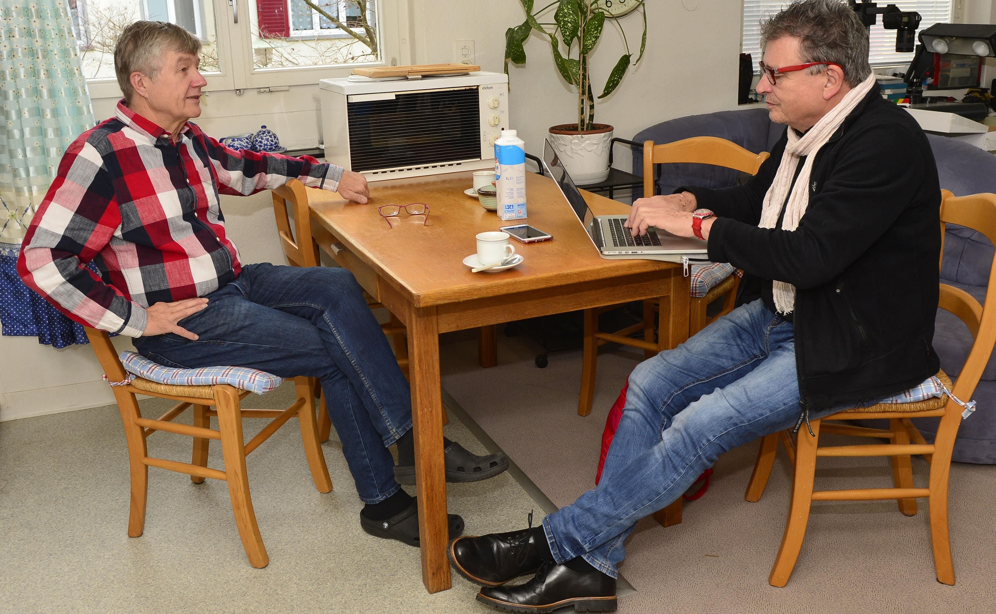 Trauerfeier: Othmar Zeder im Gespräch mit Martin Schuppli