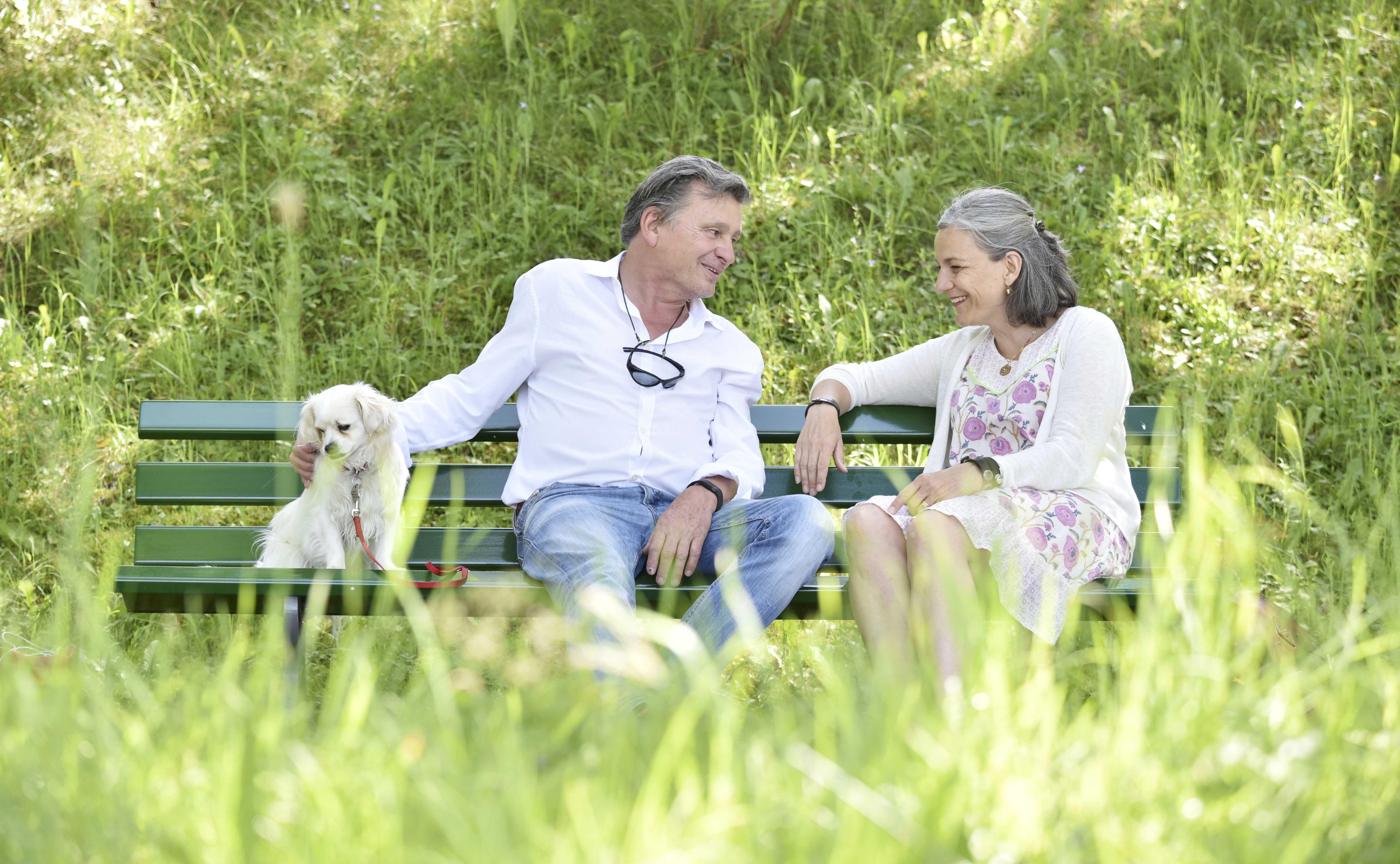 Redeten über das Sterben am Anfang eines Lebens: DeinAdieu-Autor Martin Schuppli mit Anna Margareta Neff, Leiterin der Fachstelle Kindsverlust.ch