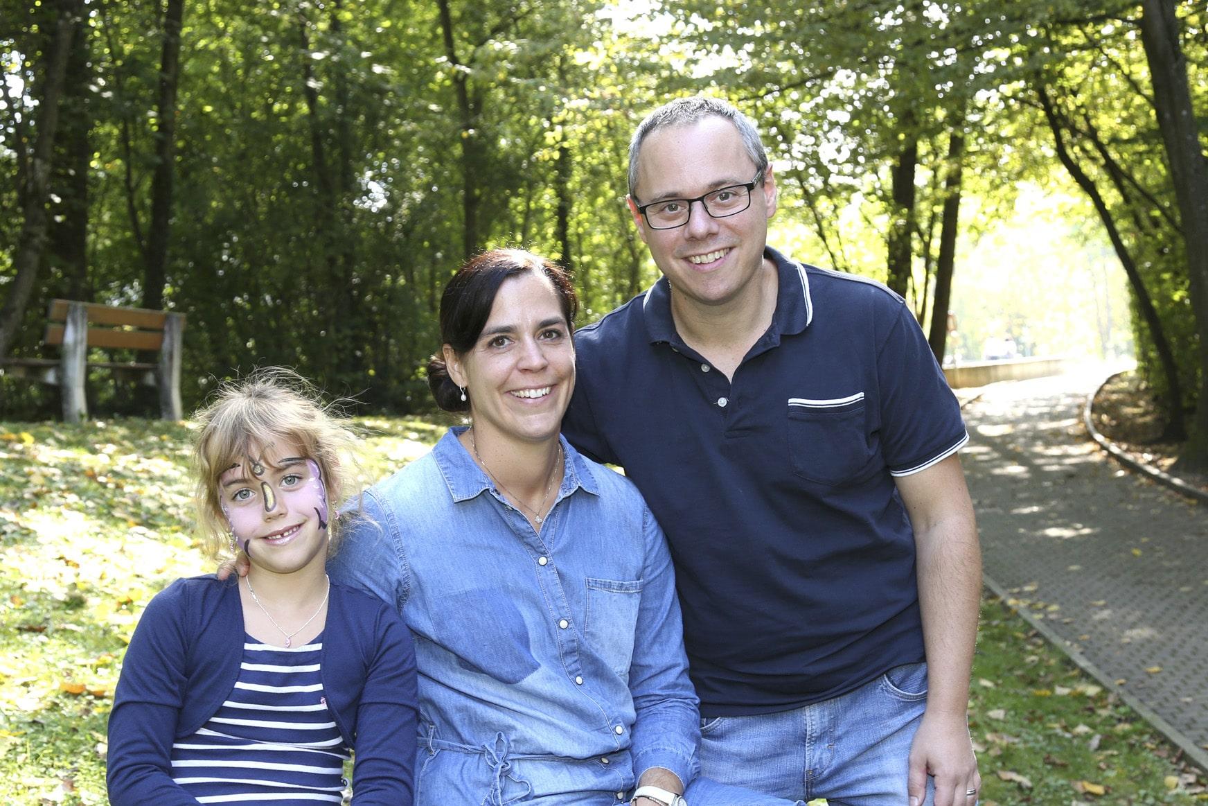 Schicksalsschlag: Tanja (M.), Christian und Felicia.