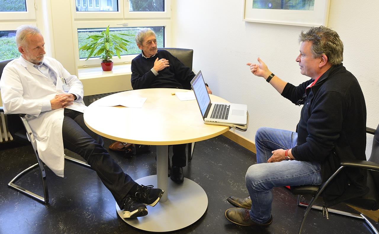 Kinderhospiz: Dr. med. Roland Kunz, Dr. med. Alois Birbaumer und DeinAdieu-Autor Martin Schuppli