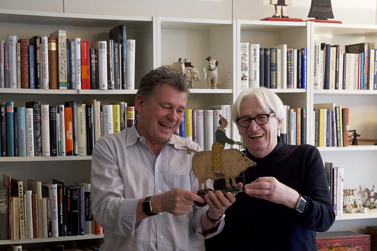 Philipp Flury (r.) und DeinAdieu-Autor Martin Schuppli