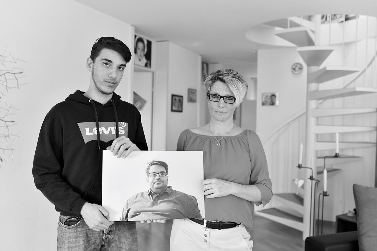 Demenz Nathalie De Febis mit ihrem jüngeren Sohn