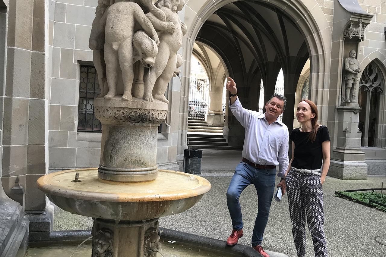 Kollektives Trauern. Esther Hürlimann und Martin Schuppli