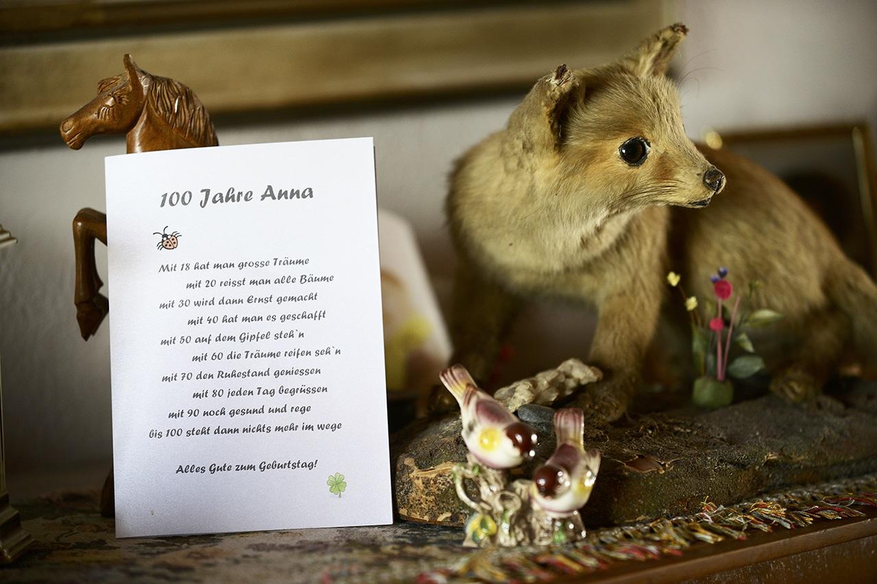 Geburtstagsbrief für Hundertjährige Anna Ebnöther