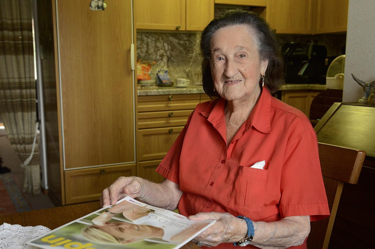 Hundertjährige Anna Ebnöther.