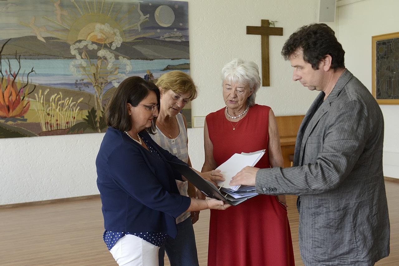Reden über Trauerbegleitung. Anita Höfer Elsbeth, Heidi Hofer, Dr. Josef Kuzar
