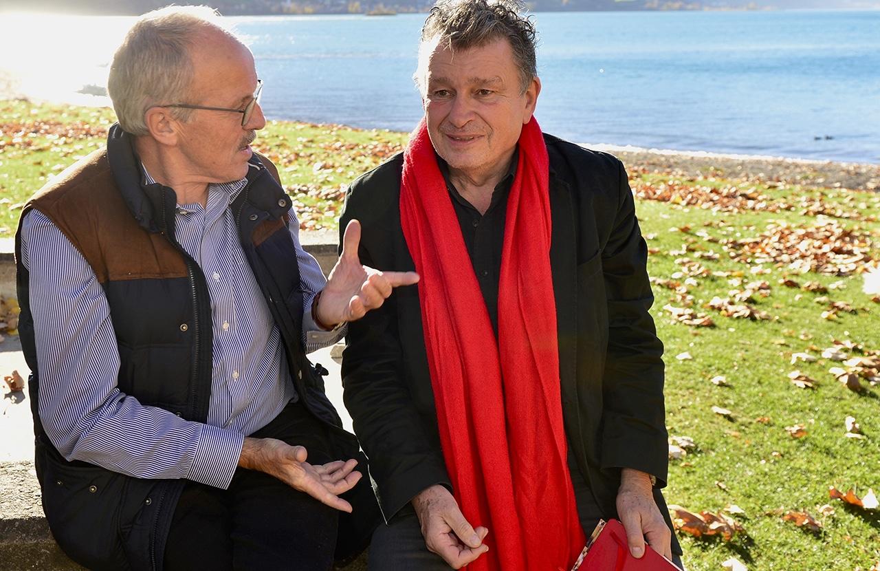 Christian Eggenberger (.) redet mit DeinAdieu-Autor Martin Schuppli über den Freitod.