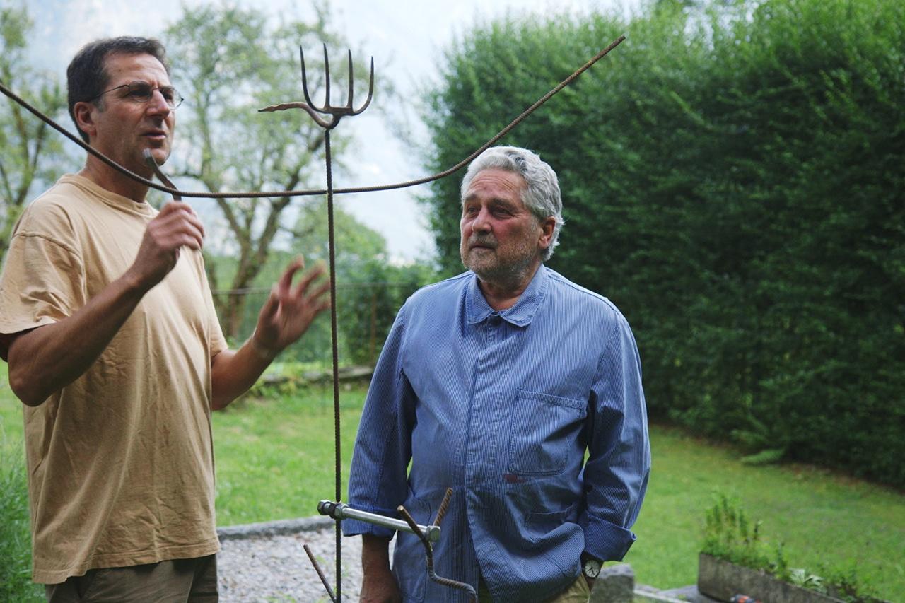 Armin Gloor (r.) und Nachbar Goffredo Frei.