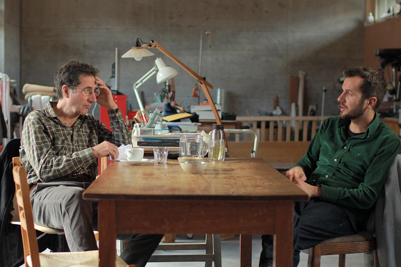 Freitod, Gregor Frei, Filmregisseur mit Vater Goffredo Frei (l.)