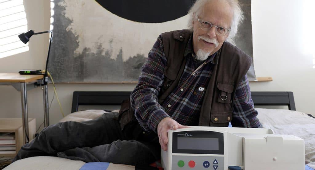 Nierenpatient Herbert Müller wartet in London auf ein Organ.