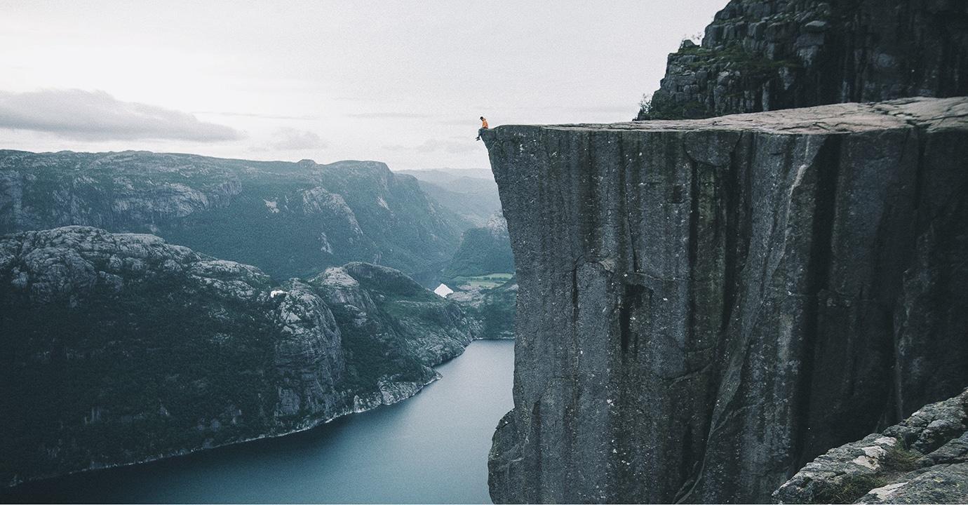 Preikestolen, Norwegen. (Foto: ©Valentin Manhart, TwinTheWorld.ch)
