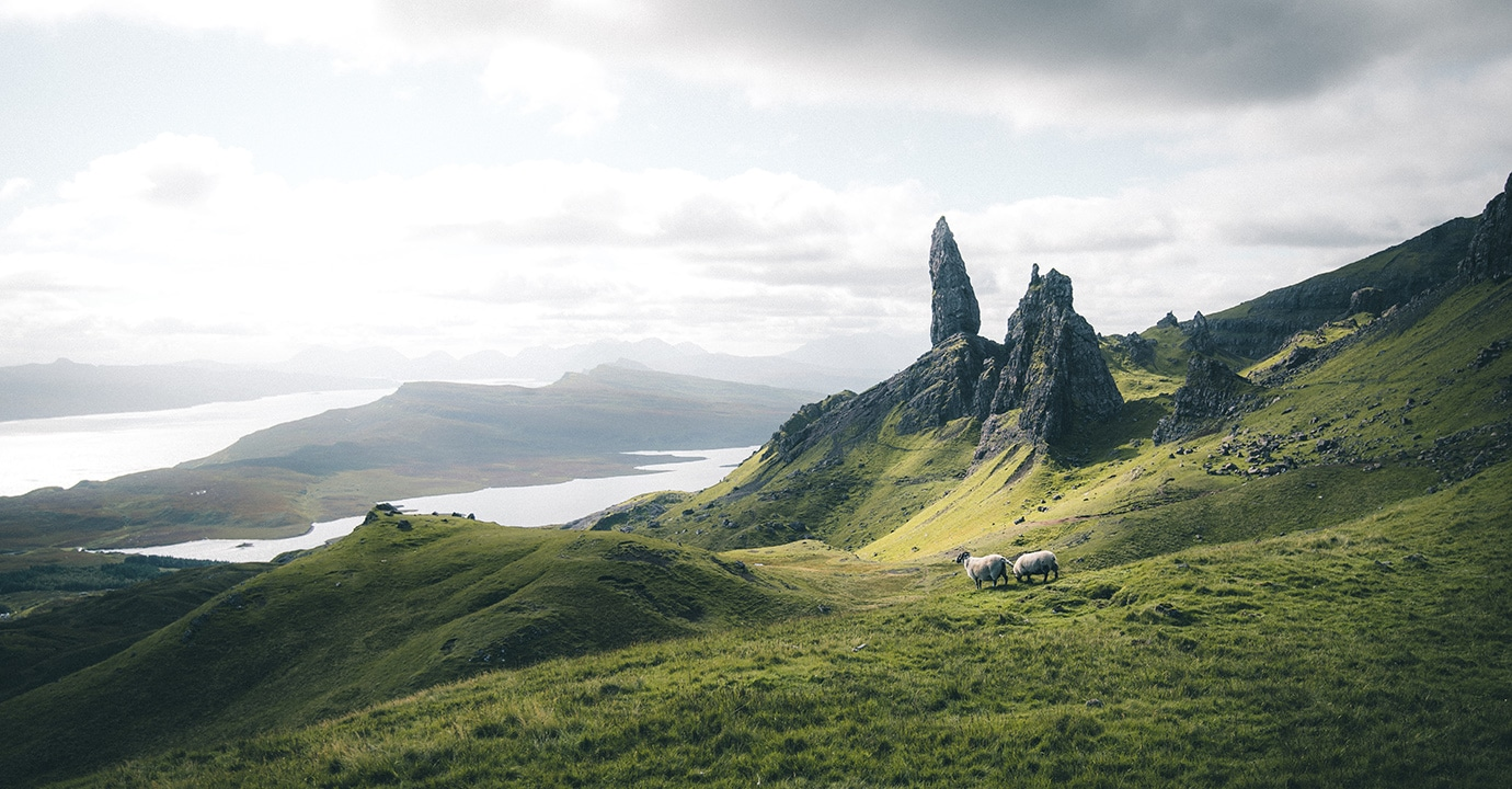 Schottland, Old Man of Storr. (Foto: ©Valentin Manhart, TwinTheWorld.ch)