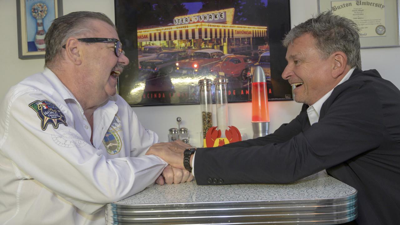 Peter R. Schwegler (l.) und Martin Schuppli