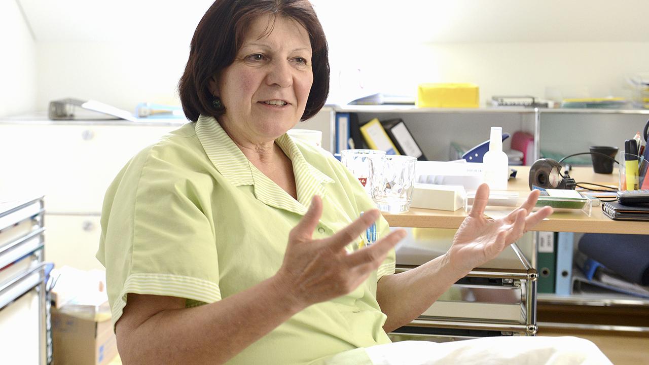Pflegefachfrau Carmen Kissling, Stationsleiterin Villa Sonnenberg, Spital Affoltern a./Al
