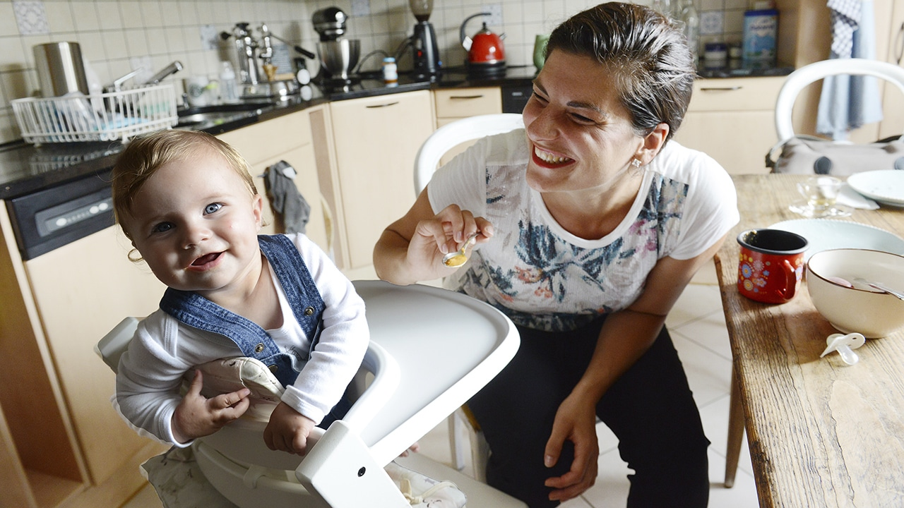 Schwere Geburt, Ivana D'Addario mit Tochter Joanina