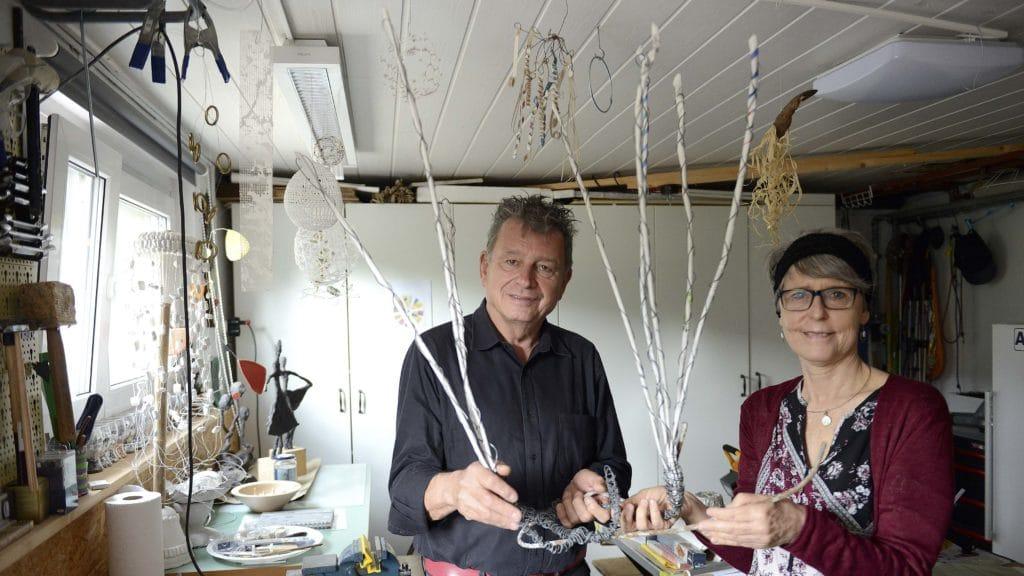 Irene Zeller mit DeinAdieu-Autor Martin Schuppli