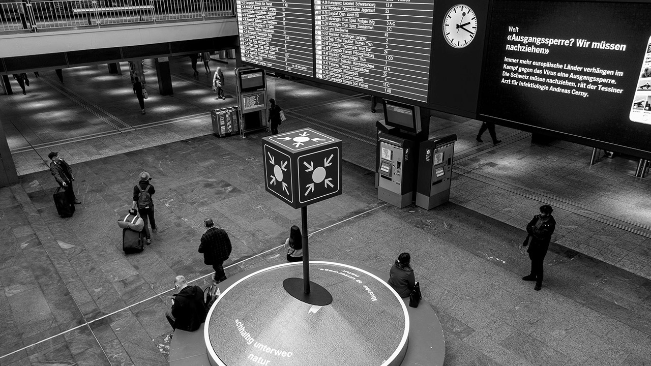 Corona-Virus legt Bahnhof Bern lahm