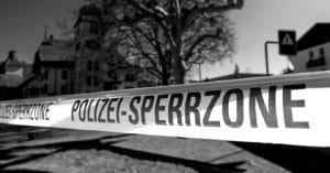 Corona-Virus, Polizei-Absperrband