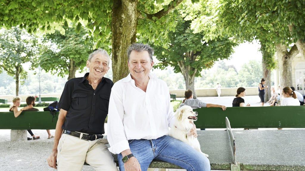 Dr. Alois Birbaumer und DeinAdieu-Autor Martin Schuppli