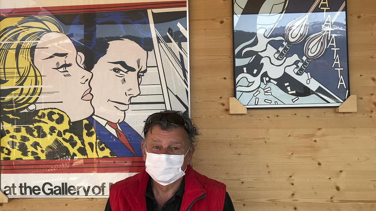Corona-Seuche: DeinAdieu-Autor Martin Schuppli mit Maske