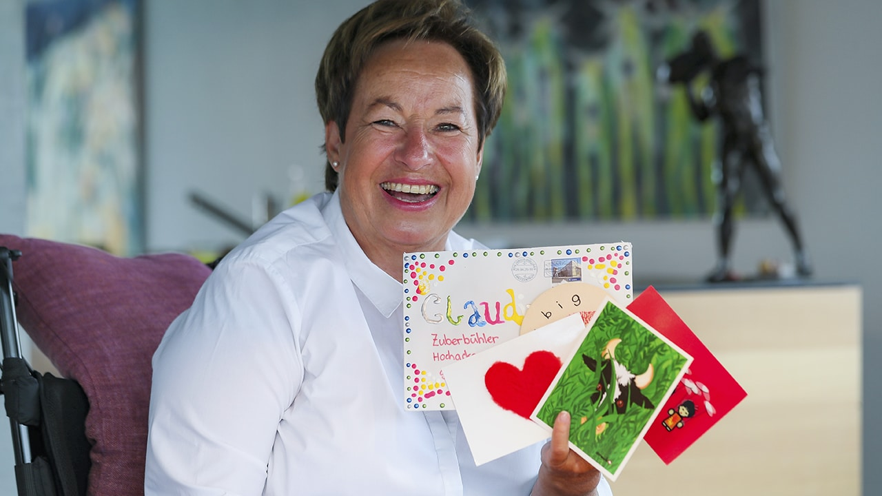 ALS-Patientin Claudine Zuberbühler