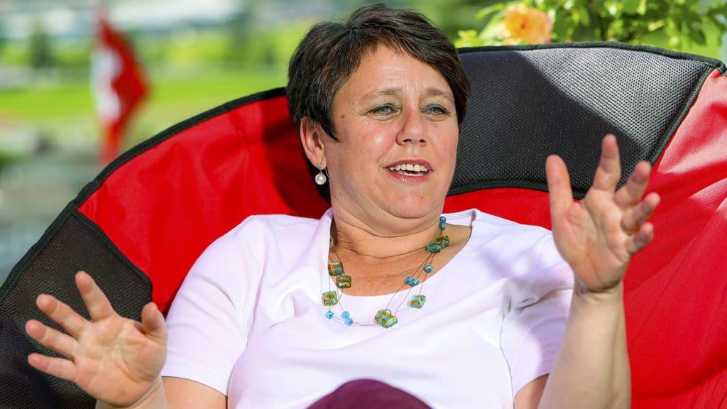 Brustkrebspatientin Denise Meier