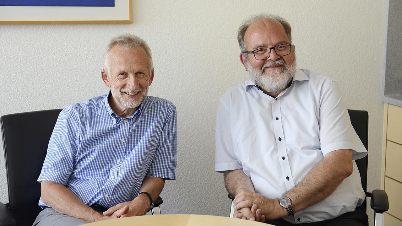 Sterben lernen: Palliativmediziner Roland Kunz (l.) und Ethiker Heinz Rüegger.