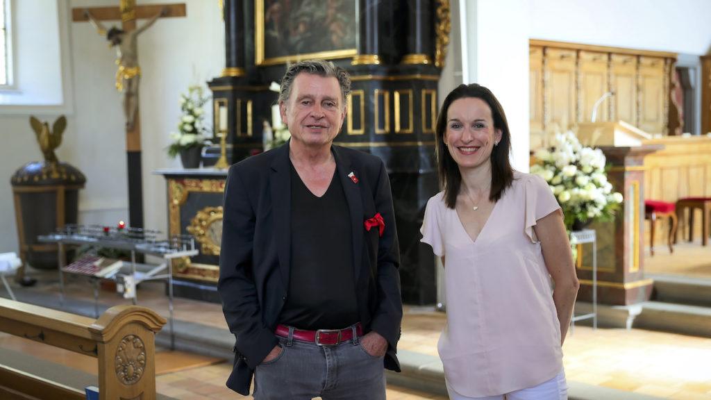 Cindy Studer-Seiler und DeinAdieu-Autor Martin Schuppli
